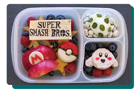 super smash bros snack